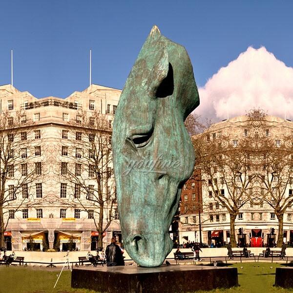 Famous Outdoor Large Bronze Animal Sculpture Bronze Horse Head Sculpture for Sale BOKK-444