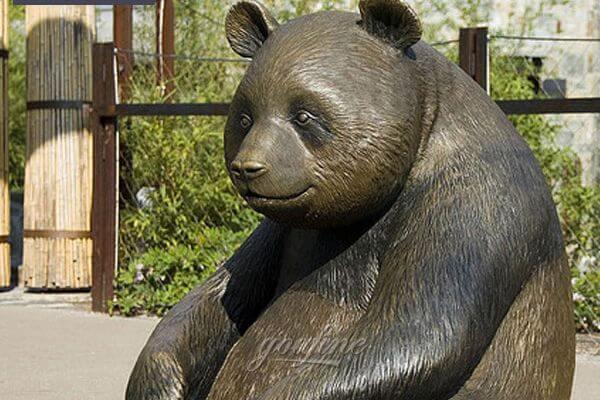 Outdoor Garden Bronze Animal Sculpture Cute Panda Beer Bronze Sculpture for Sale Mokk-297