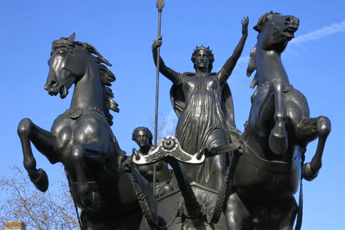 Outdoor Large Bronze Boudicca Westminster Sculpture for Sale BOKK-215