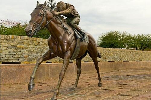 Outdoor Decorative Bronze Horse Racing Sculpture for Sale BOKK-217