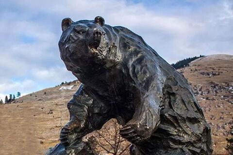 Life Size Custom Bronze Bear Sculpture for Sale BOKK-665