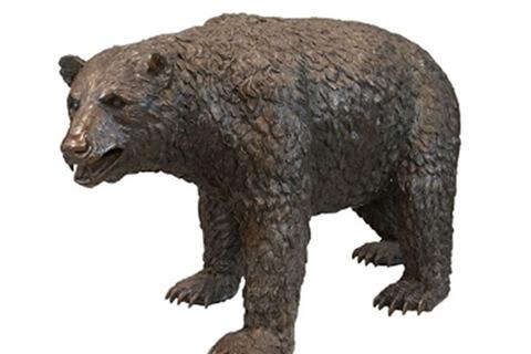 BOKK-658 large black bear sculpture for garden yard lawn ornament