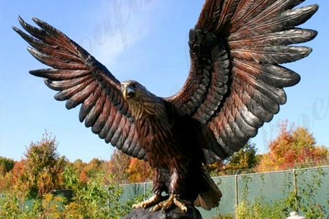 High Quality Outdoor Garden Bronze Eagle Sculpture for Sale BOKK-682