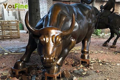 High Quality Bronze Wall Street Bull Sculpture for Sale BOKK-660