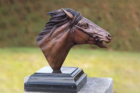 Hot Sale Bronze Horse Head Sculpture Metal Decorated for Sale BOKK-589