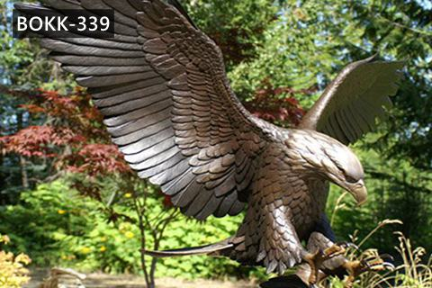 Large Outdoor Antique Bronze Eagle Statue for Sale BOKK-339
