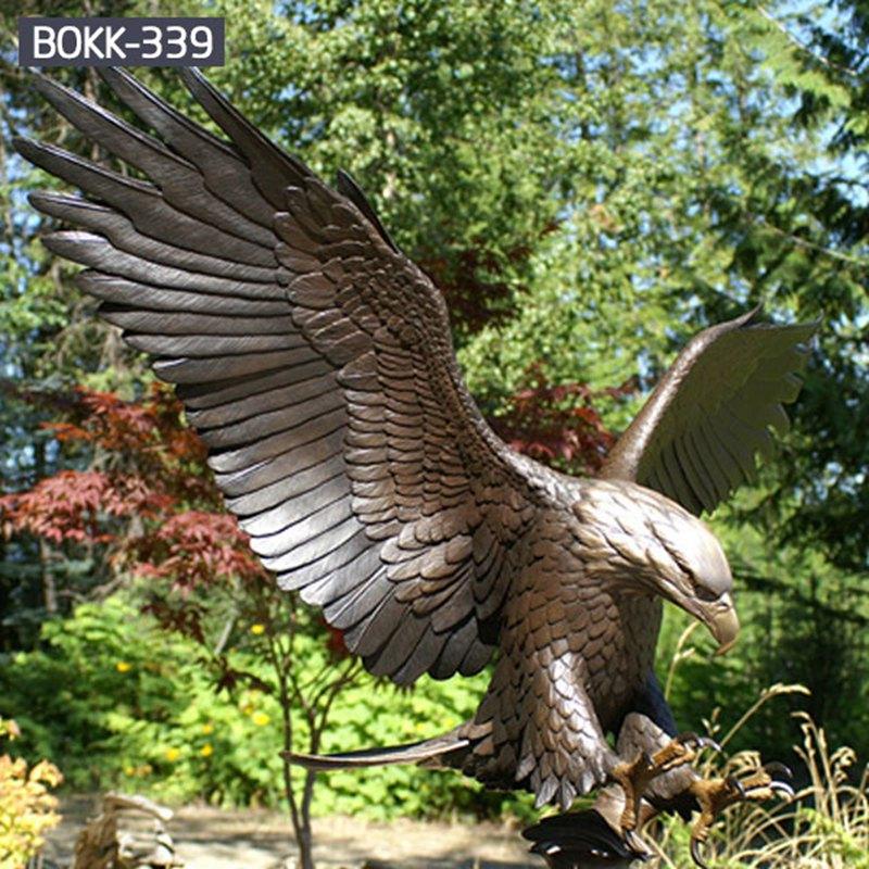 Large Outdoor Antique Bronze Eagle Statue for Sale Details