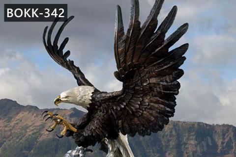 Large Outdoor Bald Eagle Statues Bronze Wildlife Sculpture