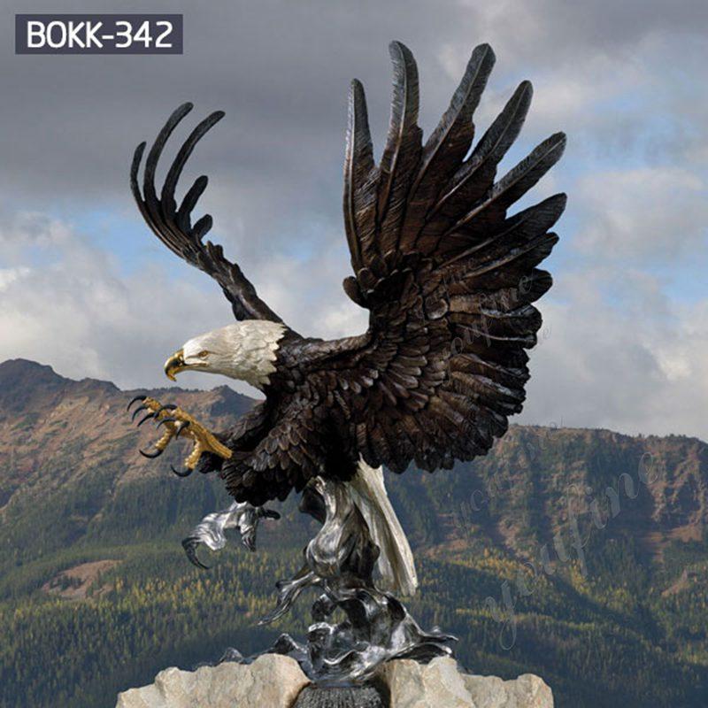 Large Outdoor Bald Eagle Statues Bronze Wildlife Sculpture Details