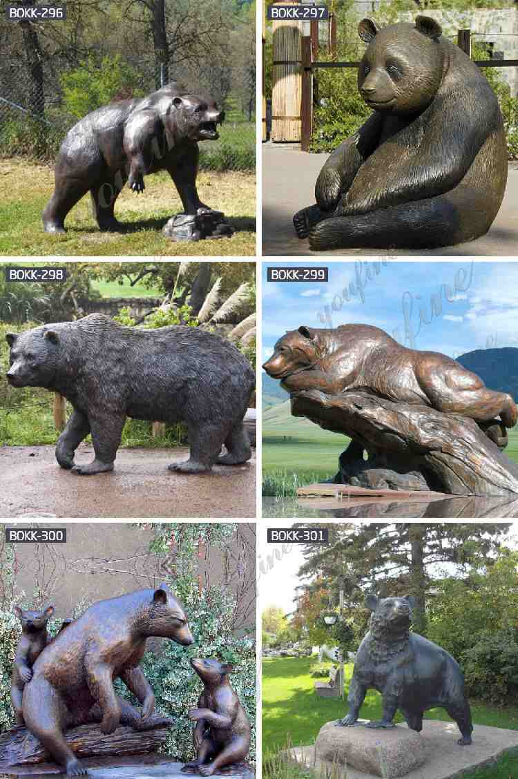 antique bronze bear statue related product