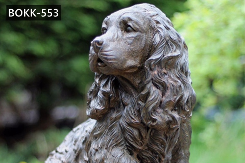 Custom Antique Bronze Springer Spaniel Dog Statue for Sale BOKK-553