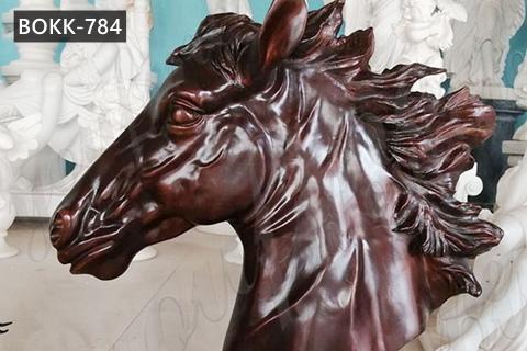 Large Bronze Horse Head Sculpture Garden Lawn Ornaments for Sale BOKK-784