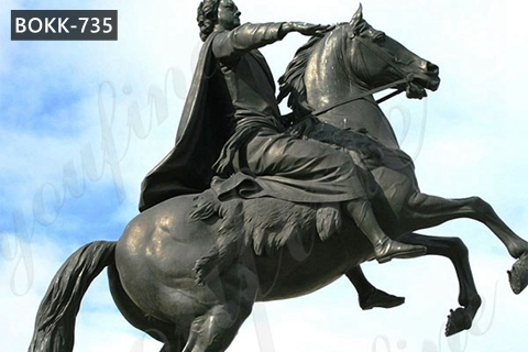 Large Outdoor Bronze Peter the Great Statue Square Decoration for Sale BOKK-735