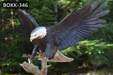 Life Size Antique Eagle Statue Bronze Wildlife Sculptures for sale Factory Supply BOKK-346