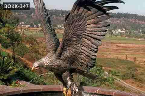 Life Size Cast Bronze Outdoor Eagle Statues for Sale BOKK-347