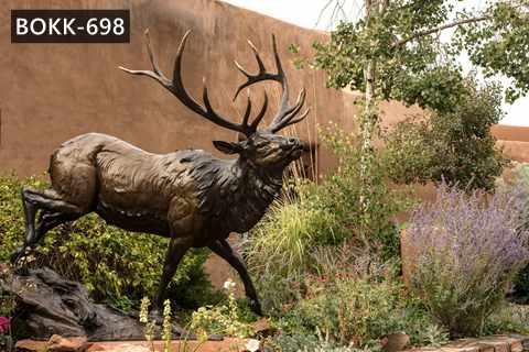 Outdoor Decorative Bronze Deer Statue Garden Decor for Sale BOKK-698