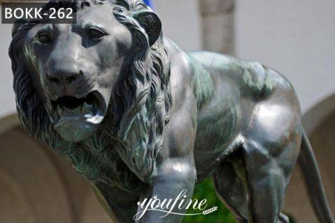 Large Antique Bronze Walking Lion Statue Wildlife Animals Garden Sculpture for Sale BOKK-262