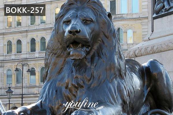 Large Bronze Sitting Lion Statue Door Entrance for Sale BOKK-257