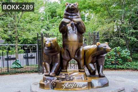 Life Size Antique Bronze Group of Bears Sculpture Animals Garden Decor for Sale BOKK-289