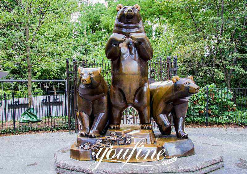 Life Size Antique Bronze Group of Bears Sculpture Animals Garden Decor for Sale Details