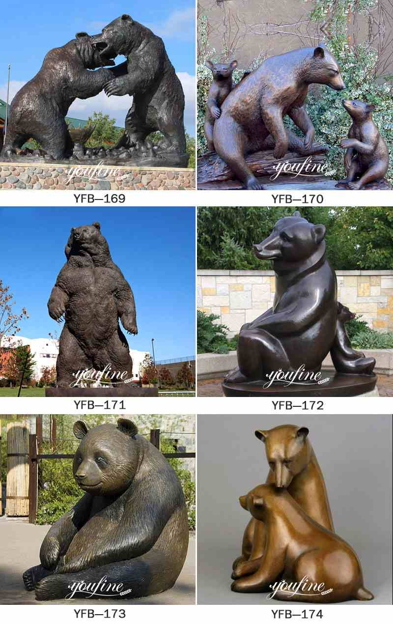 Life Size Antique Bronze Group of Bears Sculpture Animals Garden Decor for Sale Other Popular Types