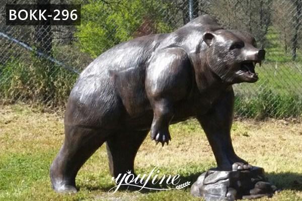 Life Size Bronze Bear Statue Lawn Ornaments for Sale BOKK-296