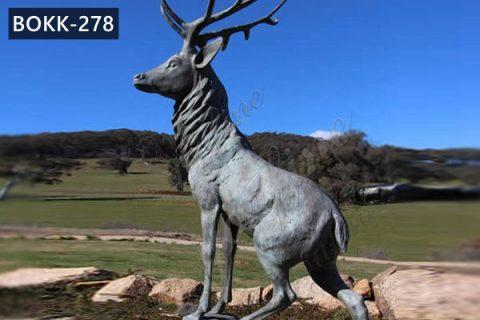 Life Size Bronze Whitetail Deer Statue Garden Animals Sculpture for Sale BOKK-278