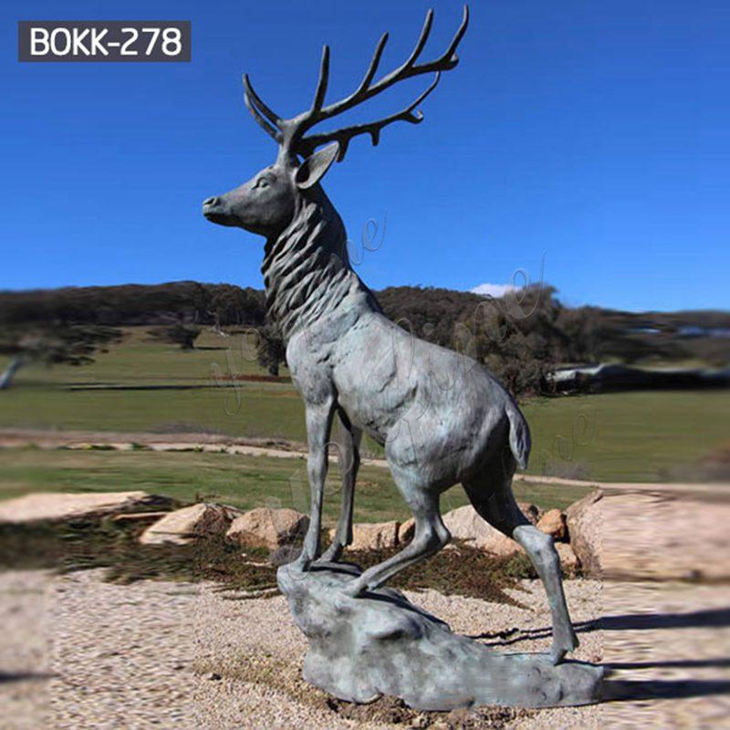 Life Size Bronze Whitetail Deer Statue Garden Animals Sculpture for Sale Details