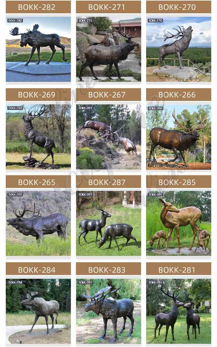 Life Size Bronze Whitetail Deer Statue Garden Animals Sculpture for Sale More Designs