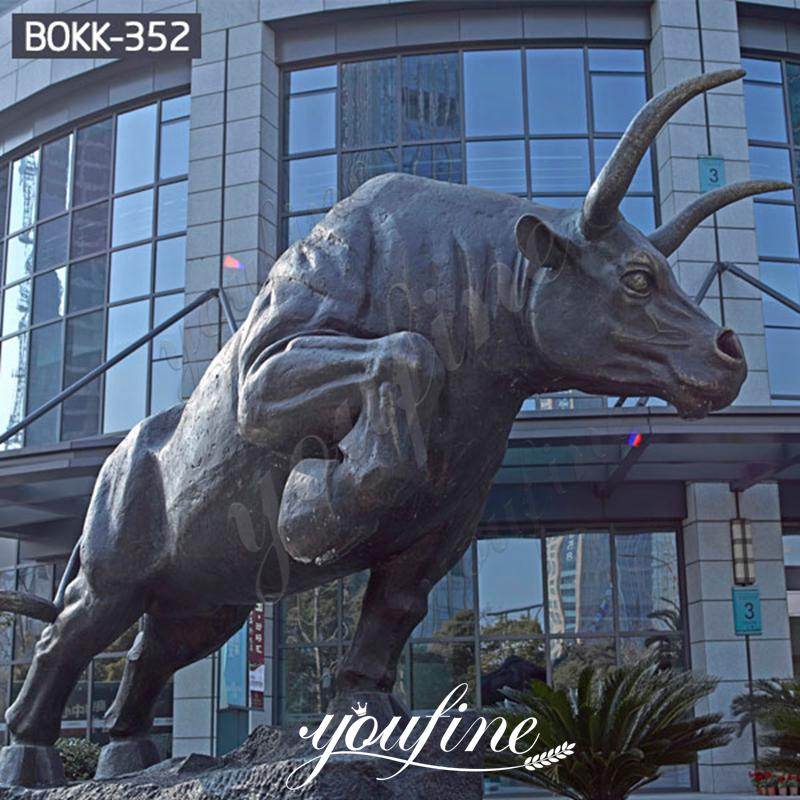 Outdoor Large Bronze Wall Street Bull Statue for Sale BOKK-352 Details