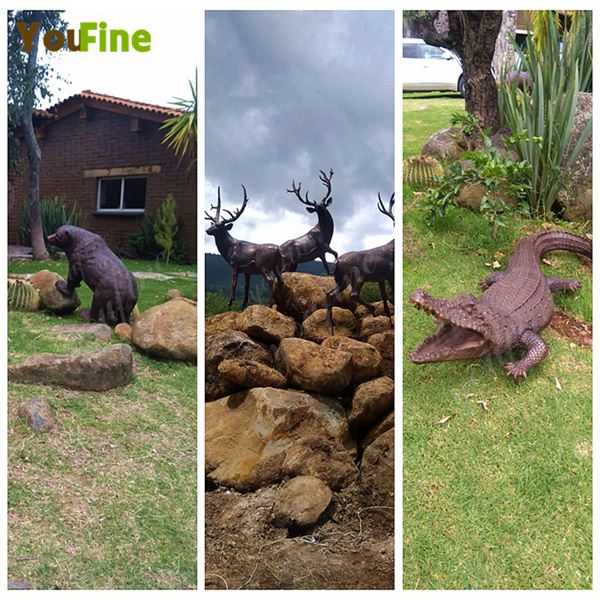 YouFine Bronze Animals Sculptures, Bronze Deer, Bear, and Crocodile Feedback From Mexican Customer