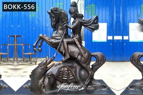 Cast Bronze Saint George Slaying The Dragon Statue for Sale BOKK-556