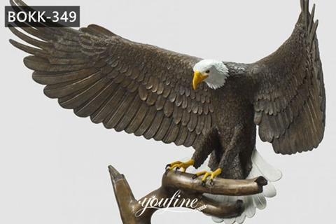 Life Size Antique Bronze Eagle Statue Garden Animals Sculpture for Sale BOKK-349