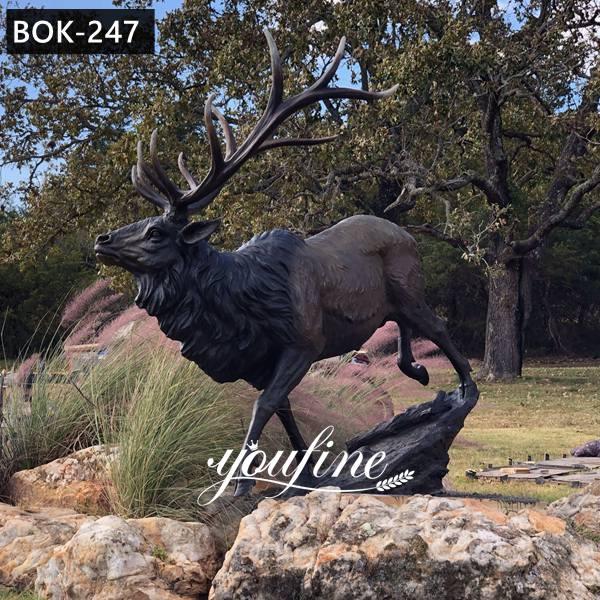 Life Size Metal Bronze Animal Moose Elk Deer Statue for Sale BOK-247 American Customers Feedback