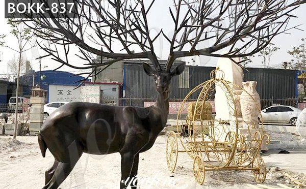 Outdoor Bronze Life Size Elk Statues Animals Garden Sculpture for Sale BOKK-837