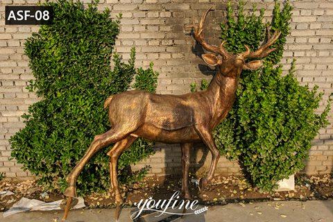 Bronze Elk Statue Life Size Christmas Metal Art for Sale ASF-08