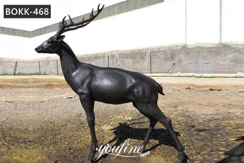 Life Size Antique Bronze Deer Garden Statue for Sale BOKK-468