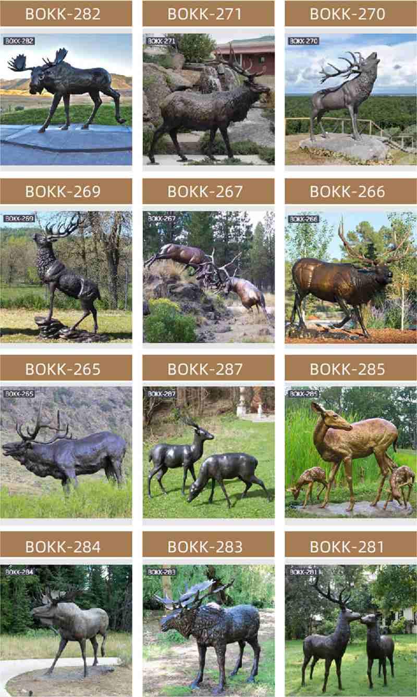 Life Size Antique Bronze Deer Garden Statue for Sale More Deer Designs