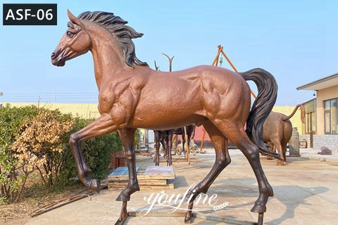 Life Size Antique Bronze Horse Statue Farm Decor for Sale ASF-06