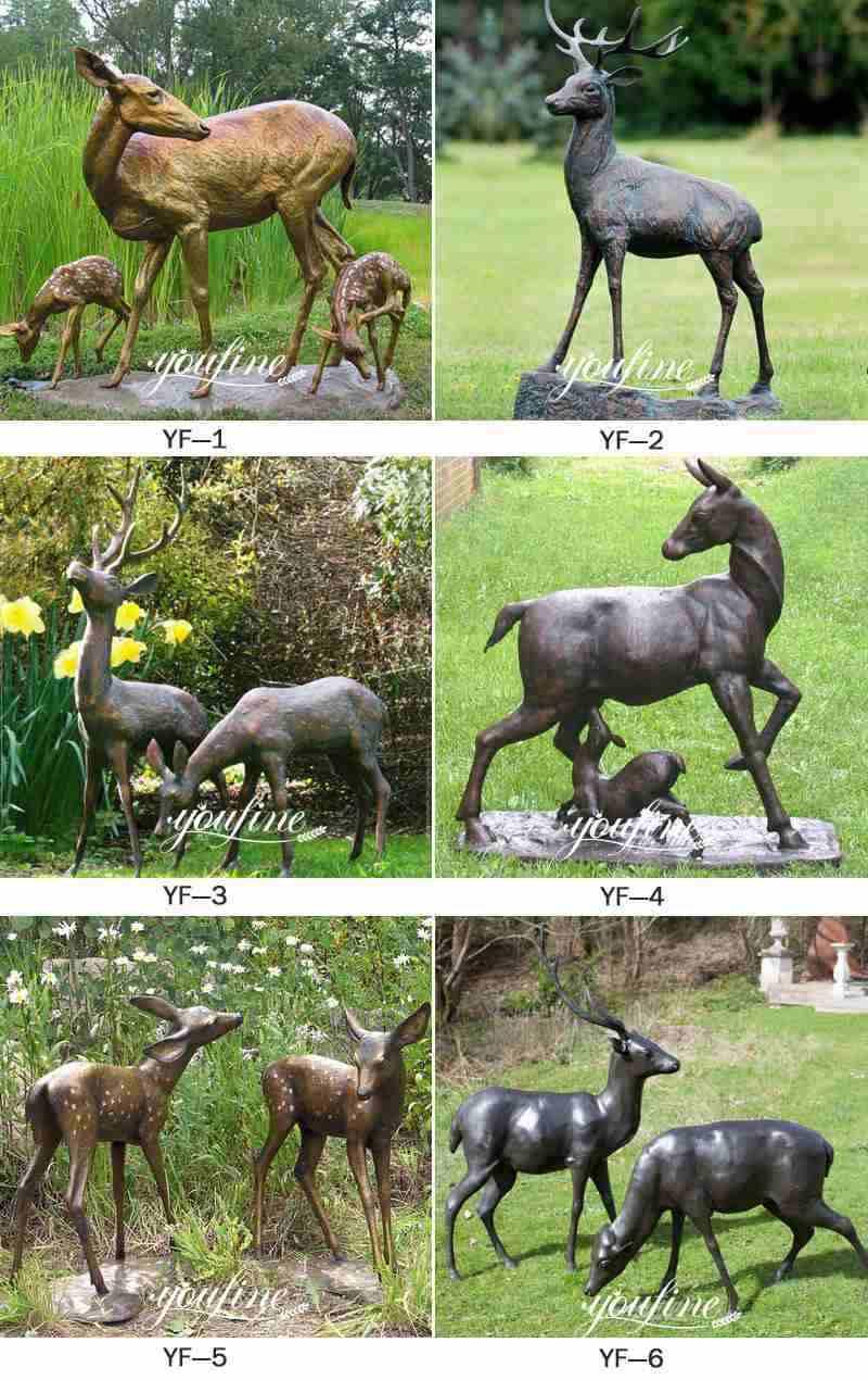 Life Size Bronze Elk Statue Metal Deer Lawn Ornaments for Sale More Designs