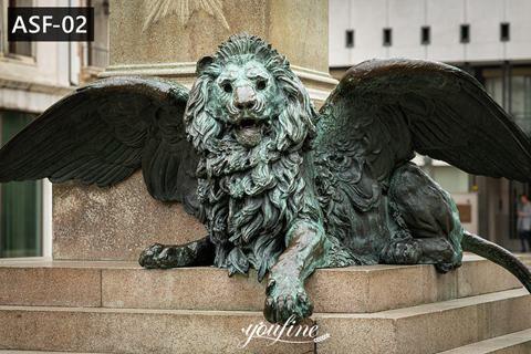 Life Size Bronze Winged Lion Statue Door Entrance for Sale ASF-02