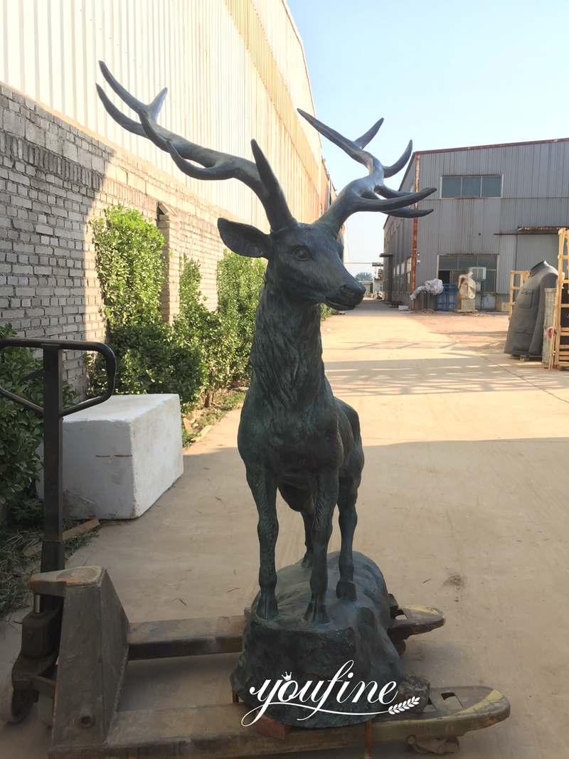 Wholesale Metal Cast Bronze Life Size Elk Statue for Sale ASF-09