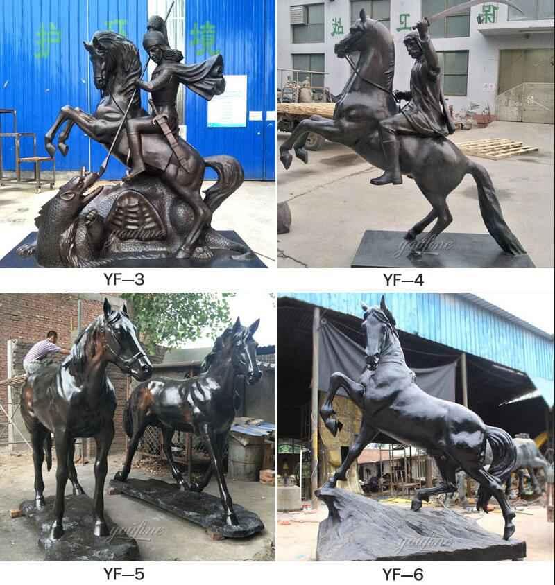 Life Size Bronze Horse and Rider Statue for Racecourse Decor More Designs