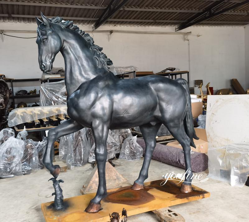 Racecourse Decorative Large Bronze Horse Statues for Sale Details (1)