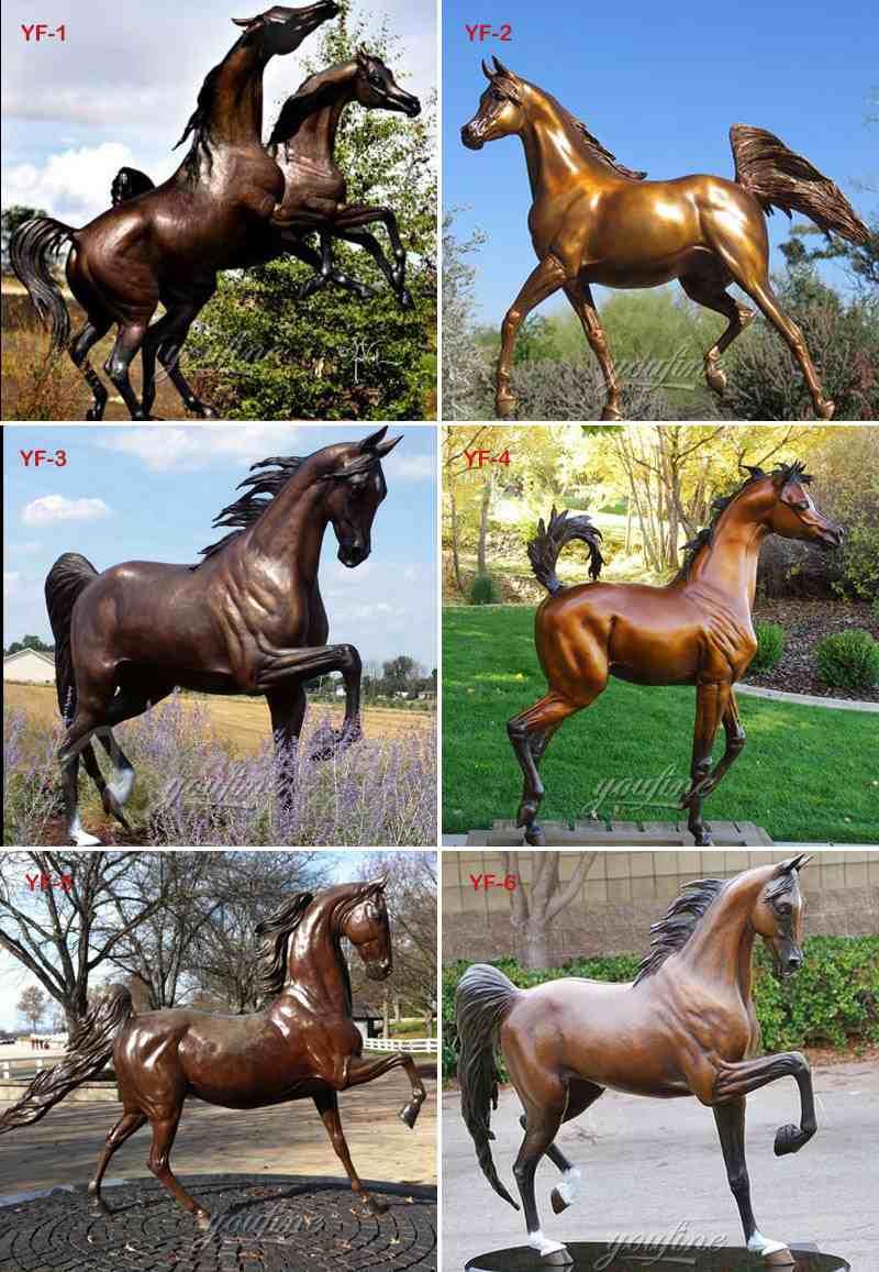 Racecourse Decorative Large Bronze Horse Statues for Sale More Designs