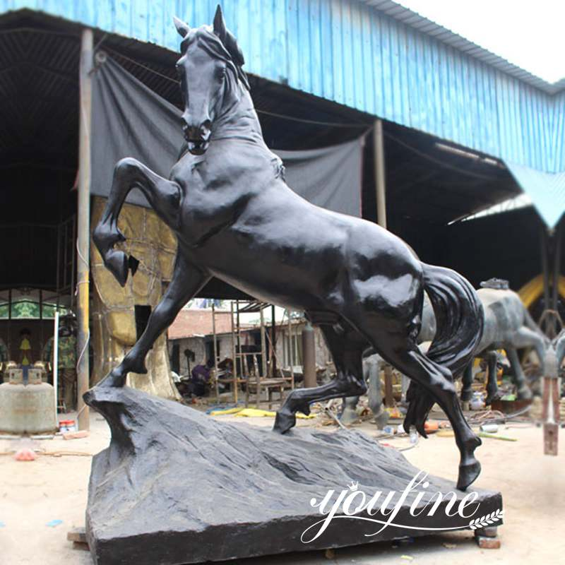 Garden Life Size Bronze Rearing Horse Statue for Sale BOKK-559