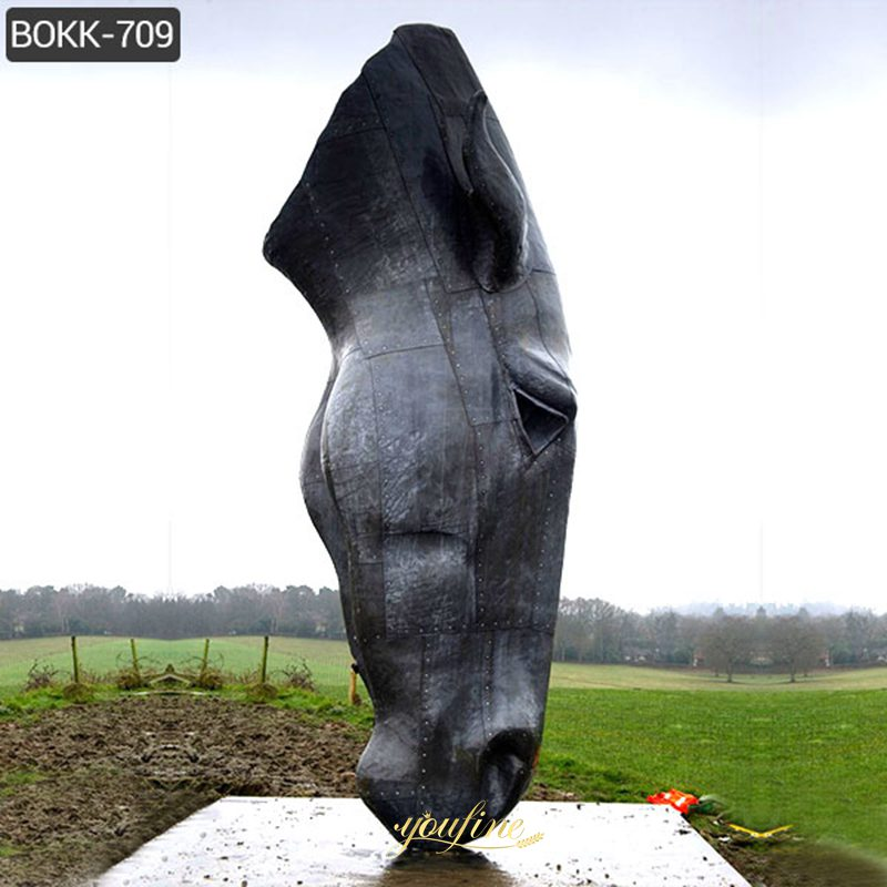 Large Antique Bronze Horse Head Sculpture Still Water for Sale MOKK-709