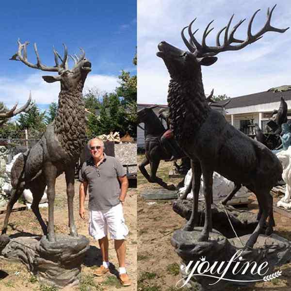 Large Bronze Elk Deer Statue From Australian Feedback