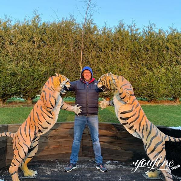 Life Size Bronze Tiger Statue Feedback from England Customers