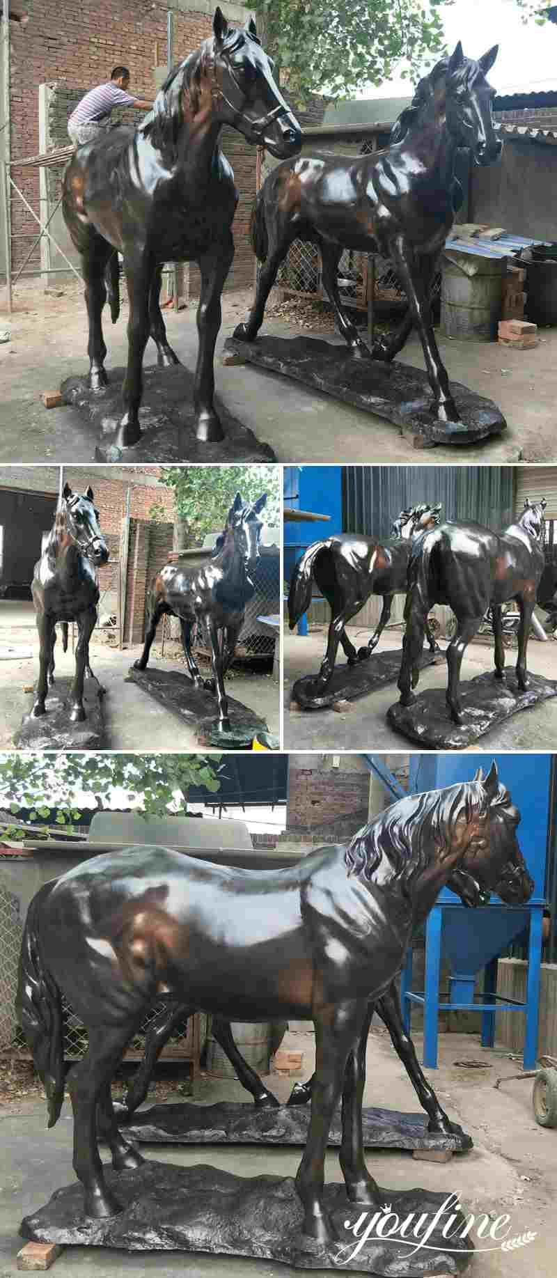 Outdoor Antique Bronze Horse Statue for Sale BOKK-558